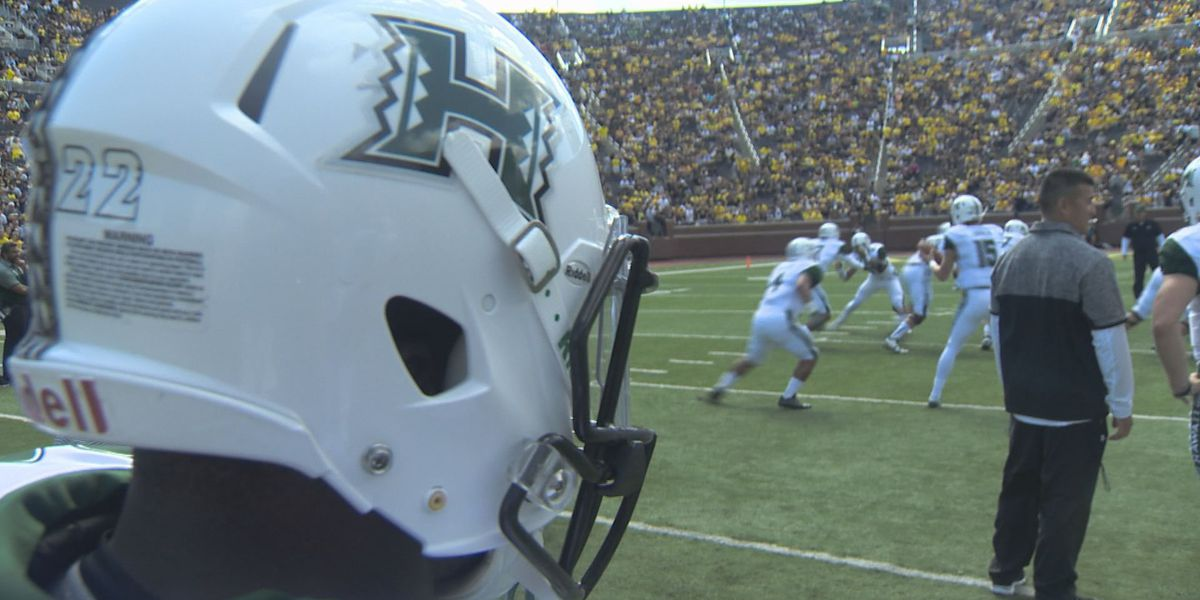 3 Rainbow Warrior football players suspended for Wyoming game