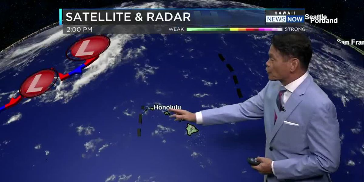 Forecast: Lighter winds, higher chance of showers holding for the weekend