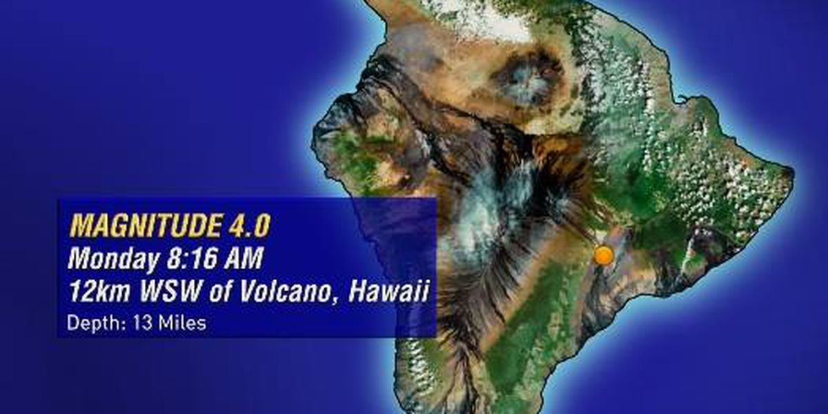 No tsunami threat following 4.3 earthquake on Big Island