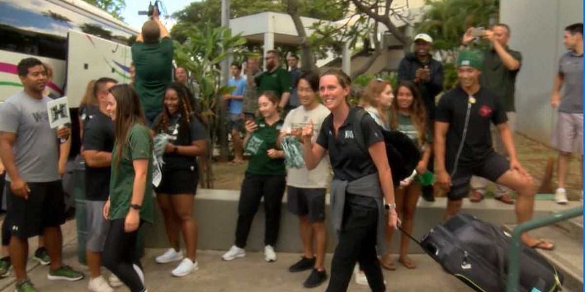 Wahine Water Polo team departs for golden state ahead of NCAA quarterfinal