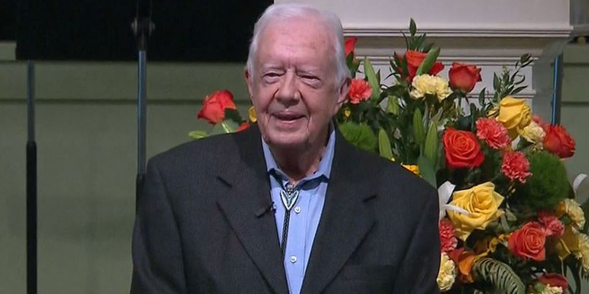 Pastor: Jimmy Carter 'up and walking' post brain surgery