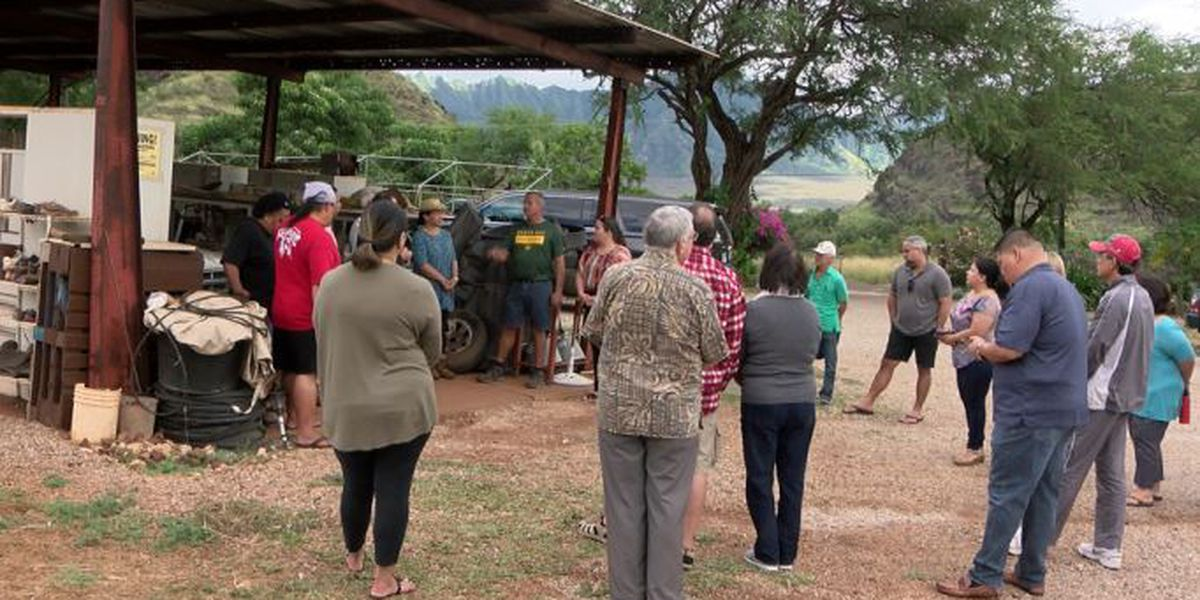 State tours possible relocation site for the encampment at Waianae boat harbor
